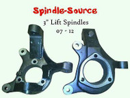 "Brand New: 07-16 3"" Lift Spindles Knuckles Silverado Sierra C1500 2WD Cadillac"