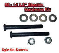 Shackle Hardware Kit Lift Lowering Shackles GRADE 8 Chevy GMC Ford Dodge 1500