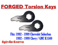 New Torsion Leveling FRONT END LIFT KEYS 1992 - 1999 Chevy GMC K1500 1in 3in 92