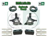 "2015+ Silverado Sierra 1500 2WD 7.5"" / 5"" Lift Spindles Kit STAMPED / ALUM ARMS"