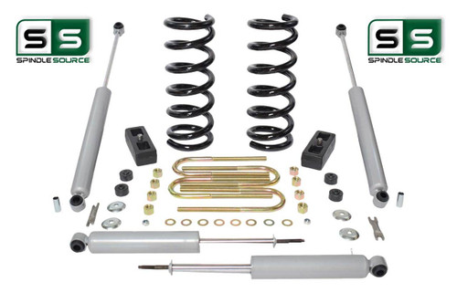 "2001-2010 Ford Ranger 2WD 3""/3"" Lift Kit 6 Cyl Coil Springs /Rr Blocks /4 Shocks"