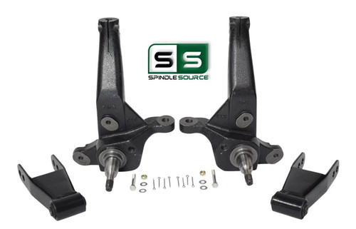 "2001 - 2010 Ford Ranger 2WD 4"" /1""-2"" Lift Kit Spindles / Lift Rear Shackles"