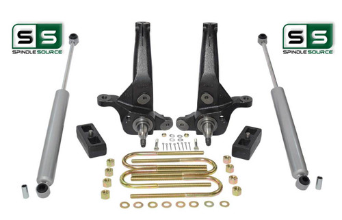 "2001 - 2010 Ford Ranger 2WD 4"" / 2"" Lift Kit Spindles/Lift Blocks/ 2 Rear Shocks"