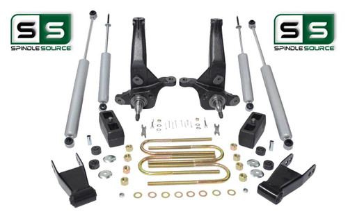 "01-10 Ford Ranger 2WD 4""/4"" Lift Kit Spindles/Blocks/4 Shocks/Shackles 4 & 6 Cyl"