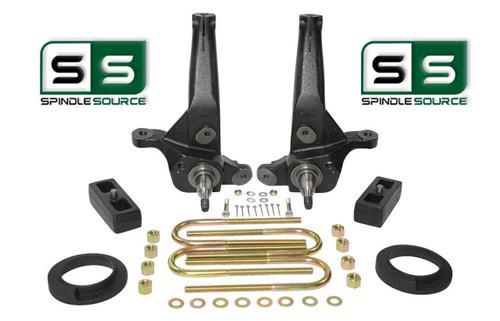"2001 - 2010 Ford Ranger 2WD 5"" / 2"" Lift Kit Spindles /Coil Spacer/Lift Blocks"