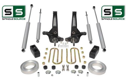 "2001-2010 Ford Ranger 2WD 6""/3"" Lift Kit Spindles/Front Spacers/Blocks/4 Shocks"