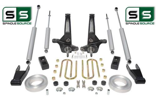 """01-10 Ford Ranger 2WD 6""""/3"""" Lift Kit Spindles/Fr Spacers/Shackle/Blocks/4Shocks"""