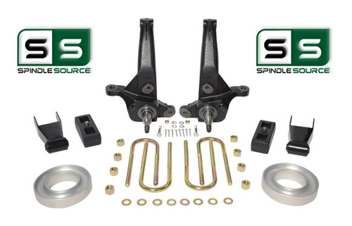 "01-2010 Ford Ranger 2WD 6""/4"" Lift Kit Spindles/Blocks/Shackles/Coil Spacers"