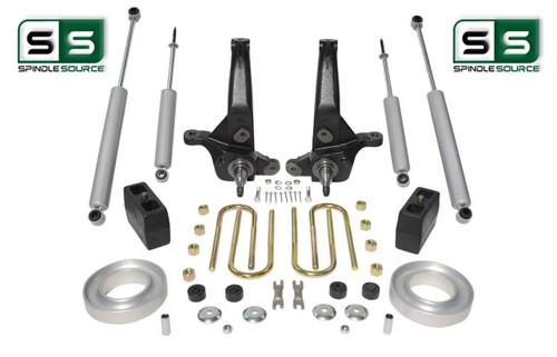 "2001-2010 Ford Ranger 2WD 6""/4"" Lift Kit Spindles/ Fr Spacers/ Blocks /4 Shocks"