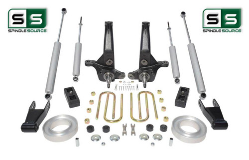 "01-10 Ford Ranger 2WD 6""/4""Lift Kit Spindles/Fr Spacer/Blocks/Shackles/4 Shocks"