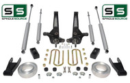 "01-10 Ford Ranger 2WD 7""/4""Lift Kit Spindles/Fr Spacer/Shackles/Blocks/4 Shocks"