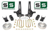"2001-2010 Ford Ranger 2WD 7""/5"" Lift Kit Spindles/Blocks/Shackles/Coil Spacers"