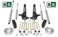 "2001-2010 Ford Ranger 2WD 7""/5"" Lift Kit Spindles/ Fr Spacers/ Blocks /4 Shocks"