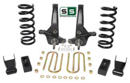 "01-10 Ford Ranger 2WD 6""/3"" Lift Kit 4 Cyl Spindles/Coils/Shackles/ Lift Blocks"