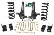 "01-10 Ford Ranger 2WD 6""/3"" Lift Kit 4 Cyl Spindles/Coils/Shackles/ Lift Blocks"