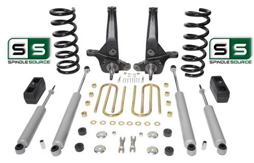 "01-10 Ford Ranger 2WD 6""/ 3"" Lift Kit 4 Cyl Spindles/Coils/Lift Blocks/4 Shocks"