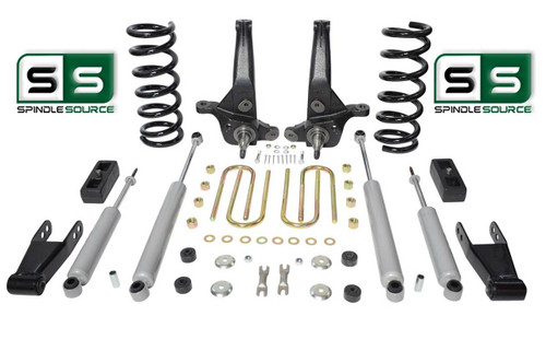 "01-10 Ford Ranger 2WD 6""/ 3"" Lift Kit 4Cyl Spindles/Coils/Blocks/Shackle/4Shocks"