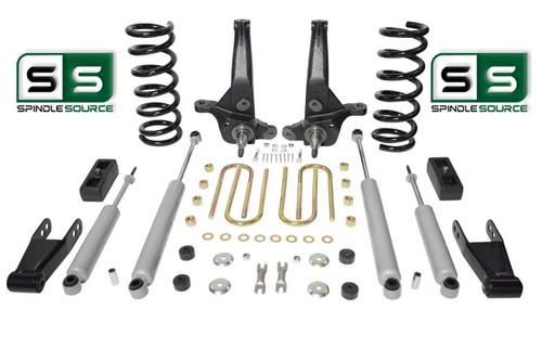 "01-10 Ford Ranger 2WD 6""/ 3"" Lift Kit 4Cyl Spindles/Coils/Blocks/Shackle/4Shocks"