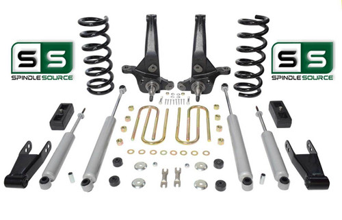 "01-10 Ford Ranger 2WD 6""/3"" Lift Kit 6 Cyl Spindles/Coils/Blocks/Shackle/4 Shock"