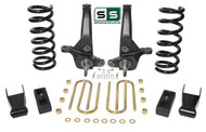 "01-10 Ford Ranger 2WD 6""/4"" Lift Kit 4 Cyl Spindles/Coils/Shackles/ Lift Blocks"