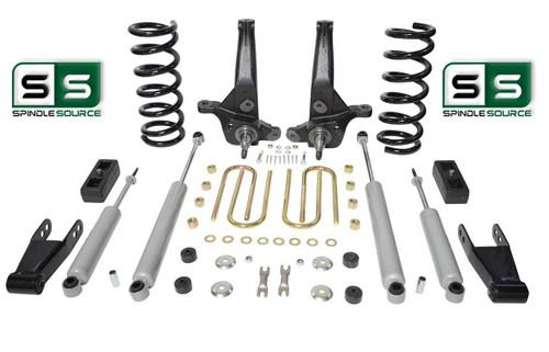 "01-10 Ford Ranger 2WD 6""/4"" Lift Kit 4Cyl Spindles/Coils/Blocks/Shackle/4 Shocks"