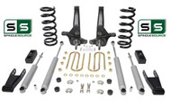 "01-10 Ford Ranger 2WD 6""/4"" Lift Kit 4Cyl Spindles/Coils/Blocks/Shackle/4 Shocks"