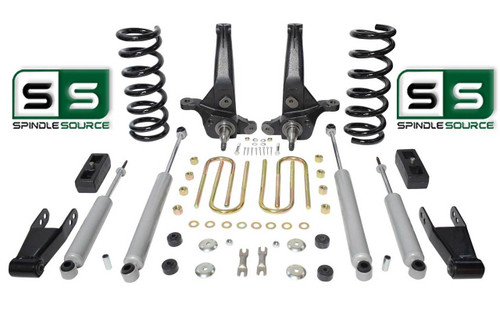 "01-10 Ford Ranger 2WD 6""/4"" Lift Kit 6 Cyl Spindles/Coils/Blocks/Shackle/4 Shock"