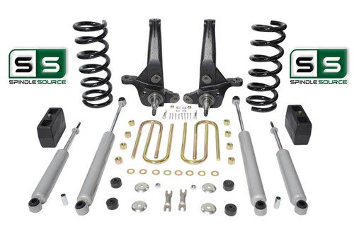 "01-10 Ford Ranger 2WD 7""/ 4"" Lift Kit 4 Cyl Spindles/Coils/Lift Blocks/4 Shocks"