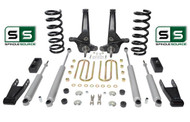 "01-10 Ford Ranger 2WD 7""/4"" Lift Kit 4Cyl Spindles/Coils/Blocks/Shackle/4 Shocks"