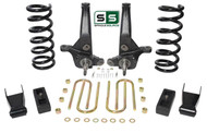 "01-10 Ford Ranger 2WD 7""/4"" Lift Kit 6 Cyl Spindles/ Fr Coils/ Shackles/ Blocks"