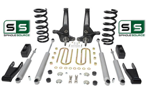 "01-10 Ford Ranger 2WD 7""/5"" Lift Kit 4Cyl Spindles/Coils/Blocks/Shackle/4 Shocks"