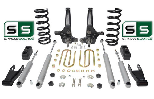 "01-10 Ford Ranger 2WD 7""/5"" Lift Kit 6 Cyl Spindles/Coils/Blocks/Shackle/4 Shock"