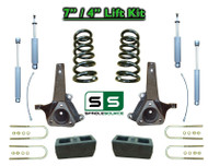 "02 - 08 Dodge Ram 1500 2WD 7"" Front 4"" Rear Spindle COIL Lift Kit SHOCKS  V6 Eng"