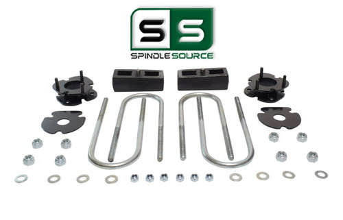 """2.5""""/2"""" FRONT SPACERS WITH BLOCKS , FITS 2005-2011 DODGE DAKOTA 4WD W/3.5"""" AXLE"""