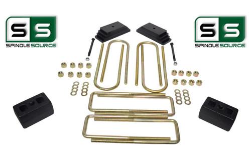 """2""""/3"""" LEAF PACK / BLOCKS LIFT KIT FITS 1999-2004 FORD F250/F350 4WD W/3.5"""" AXLE"""
