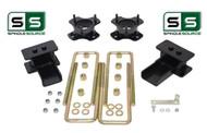 """3""""/3"""" Lift Strut Spacers Blocks U-Bolt Kit Fits 2009 - 2014 Ford F150 2wd"""