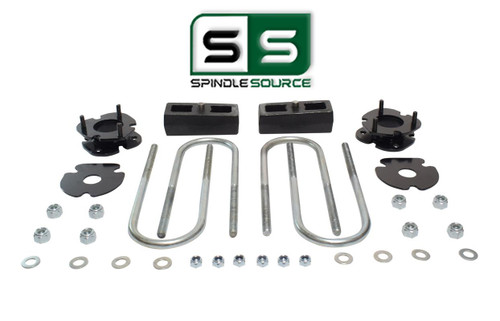 """2.5""""/2"""" FRONT SPACERS WITH BLOCKS , FITS 2005-2011 DODGE DAKOTA 2WD W/3.5"""" AXLE"""