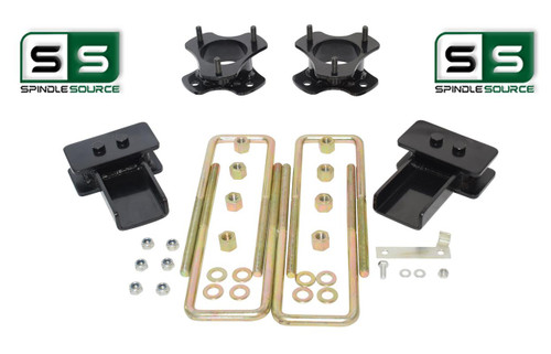 "3""/2"" Lift Strut Spacers Blocks U-Bolts Kit Fits 2009 - 2014 Ford F150 2wd"
