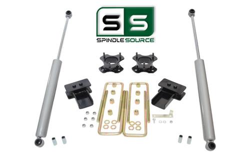 """3""""/2"""" Lift Strut Spacers Blocks Rear Shocks Kit Fits 2009 - 2014 Ford F150 2wd"""
