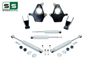 "99 - 06 Silverado / Sierra 1500 2"" / 2"" Spindle Drop Kit + Shocks"