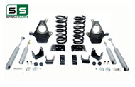 "99 - 06 Silverado / Sierra 1500 (V6)  3"" / 5"" Spindle Coil Drop Kit + Shocks"
