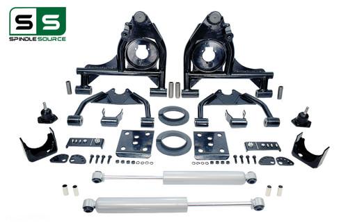 """99 - 06 Silverado / Sierra 1500 3"""" / 5"""" Control Arms (Upper / Lower) Drop Kit + Rear Shocks"""