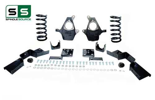 "99 - 00 Silverado / Sierra 1500 (V8)  4"" / 6"" Coil Drop Kit + C-Notch"