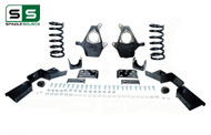 "99 - 00 Silverado / Sierra 1500 (V6)  4"" / 6"" Coil Drop Kit + C-Notch"