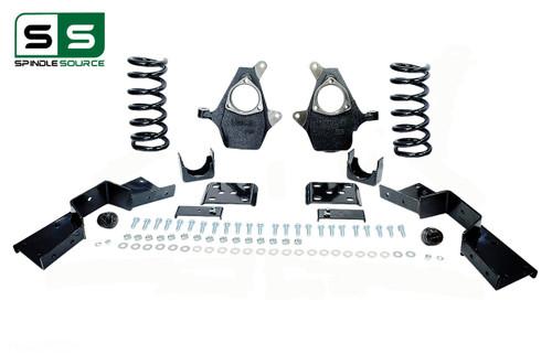 "99 - 00 Silverado / Sierra 1500 (V6)  4"" / 6"" Coil Drop Kit + C-Notch"