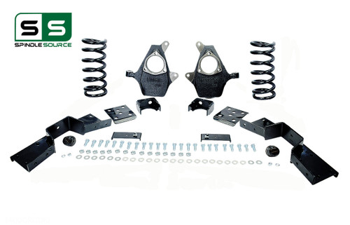 "01 - 06 Silverado / Sierra 1500 (V8)  4"" / 6"" Coil Drop Kit + C-Notch"