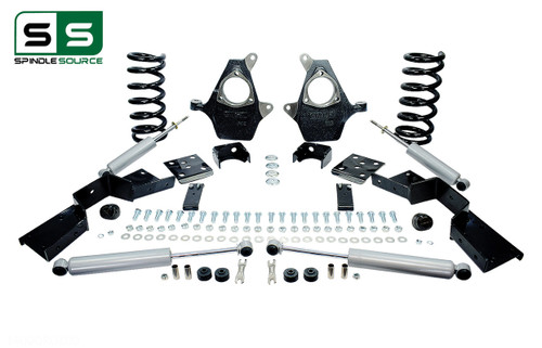 "01 - 06 Silverado / Sierra 1500 (V6)  4"" / 6"" Drop Kit + Shocks, C-Notch"