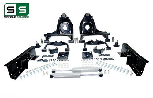"99 - 00 Silverado / Sierra 1500  4"" / 6"" Control Arm Drop Kit + Shocks, C-Notch"