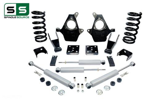"99 - 06 Silverado / Sierra 1500 (V8)  4"" / 7"" Drop Kit + Shocks"