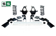 "99 - 00 Silverado / Sierra 1500 (V6)  4"" / 7"" Coil Drop Kit + C-Notch"